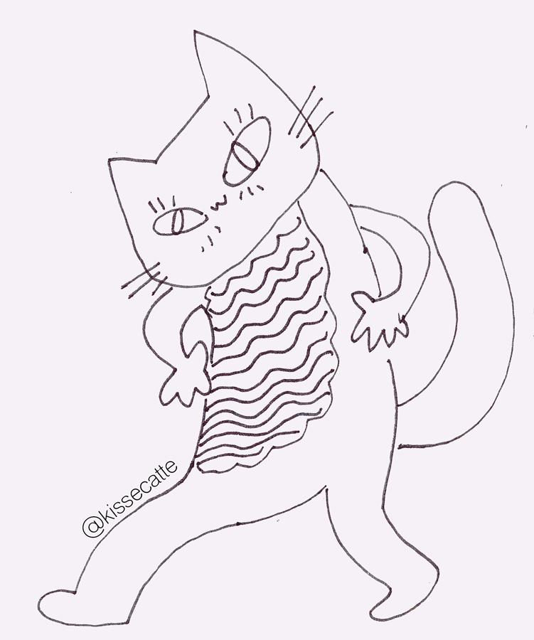 kissecat's drawing of cat