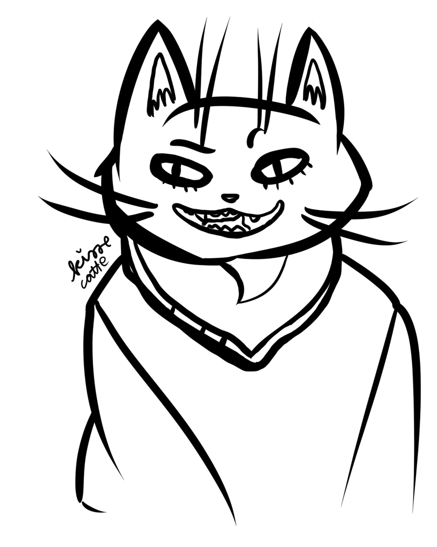 digital drawing of a cat character drawn by kissecatte