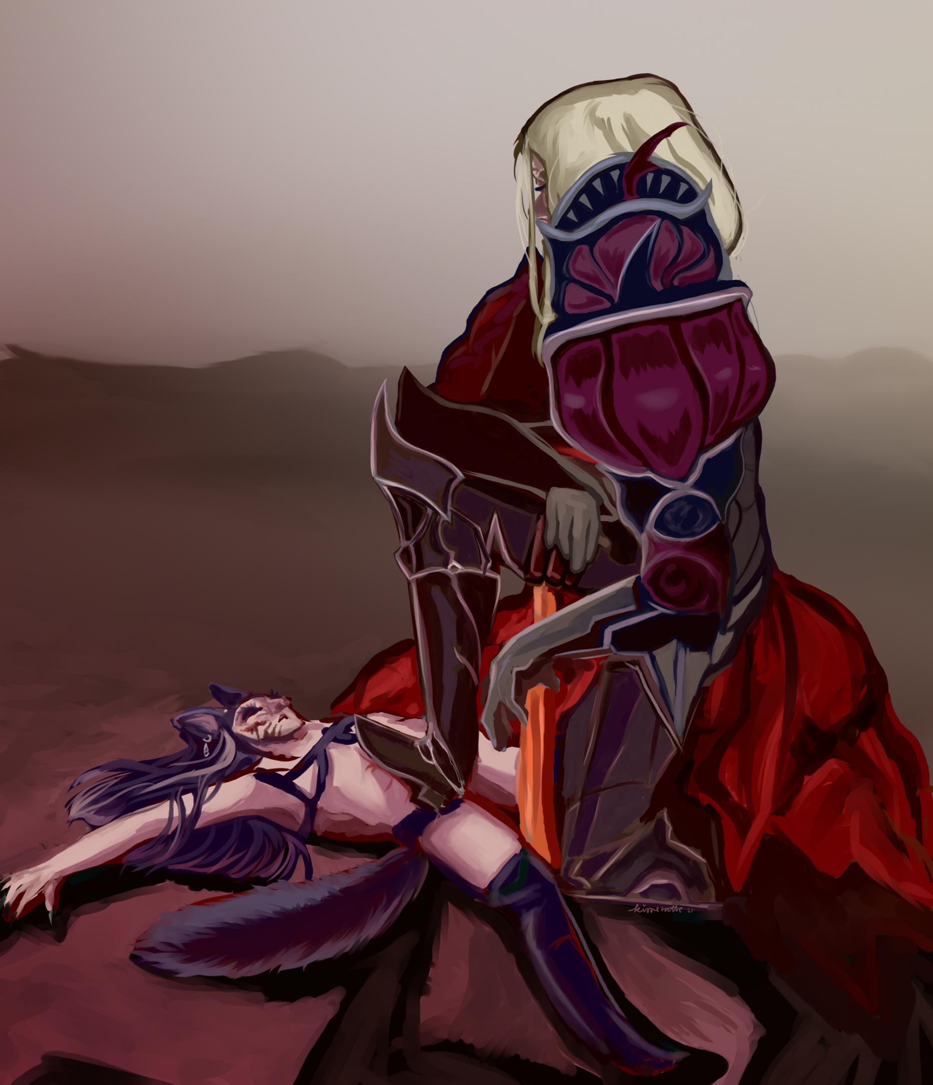 zenos wol fan art painting by kisse